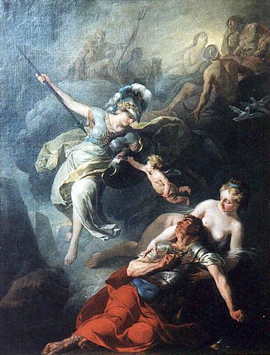 Joseph-Benoît Suvée, 1743 - 1807, Combate entre Atena e Ares.
