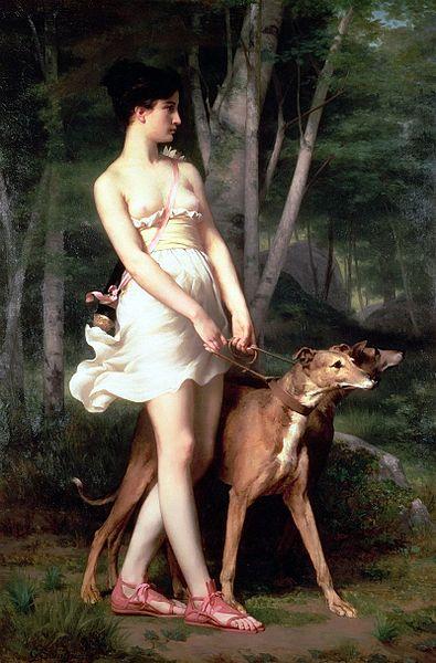 Diana, a caçadora. Obra de Gaston Casimir Saint-Pierre.