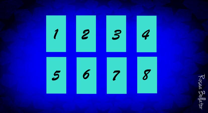 Tarot Jogo das 8 Cartas - 8 cartas