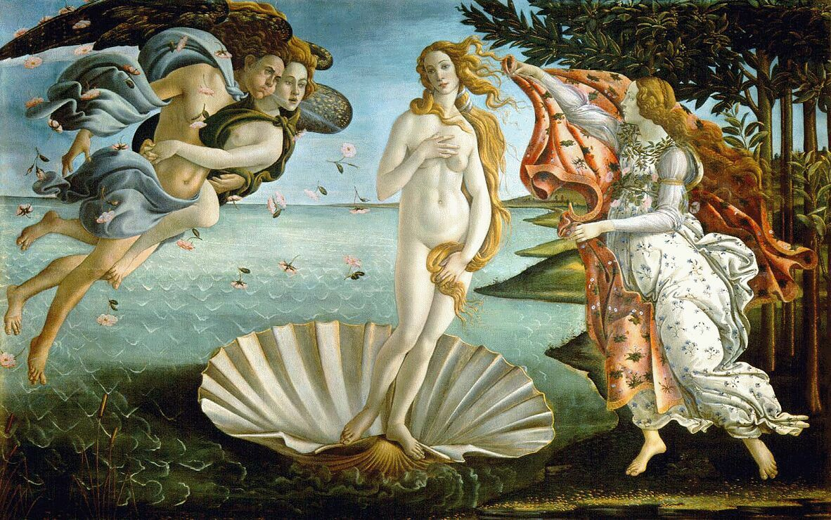 O Nascimento de Vênus, Botticelli 1483-1485. Ritual de Afrodite contra barreiras no amor, barreiras no amor, ritual para desfazer barreiras no amor, desfaça barreiras no amor, deusa do amor, magia para desfazer barreiras no amor