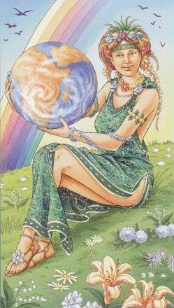 Gaia, do Tarot Universal Goddess .